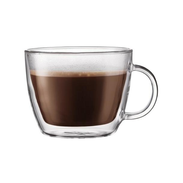 Efterstræbte Bodum Dobbeltvægget cafe latte glas med hank, 0.45 l, 2 stk YR-87