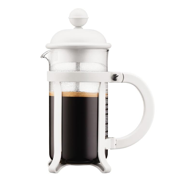 Bodum Kaffebrygger 3 kop, 0.35 l JAVA , Hvid - Stempelkande - Hjem.dk