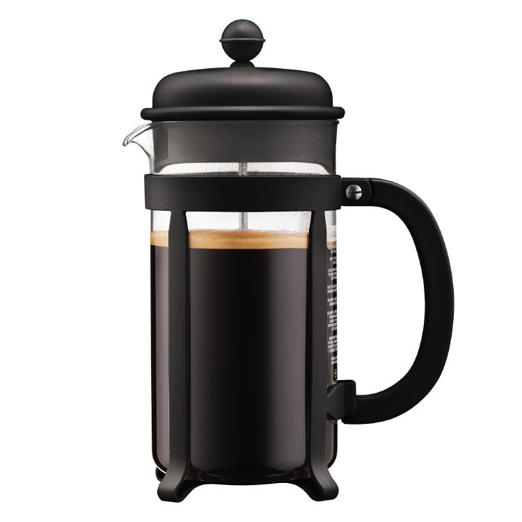 Bodum Kaffebrygger 8 kop, 1.0 l JAVA , Sort - Stempelkande - Hjem.dk