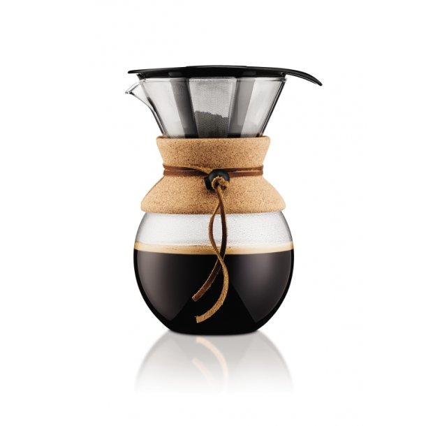 Bodum Kaffebrygger med filter, 1.0 l POUR OVER , Kork - Kaffemaskine - Hjem.dk