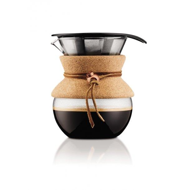 Bodum Kaffebrygger med filter, 0.5 l POUR OVER , Kork - Kaffemaskine - Hjem.dk